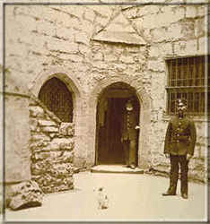 A scene from the Castle Courtyard when the Castle was a prison - photo: Manx National Heritage