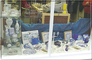 part of the very professional window display on 24th January.