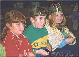 Children dresses as the Three Wise Men
