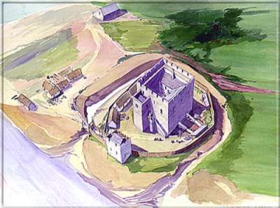 Castle Rushen in 1250 - With grateful thanks to Manx National Heritage for their assistance with copyright text and images