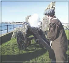 Canon fired at the Castle from Hango Hill