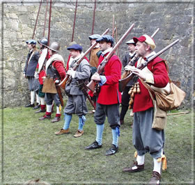 Troops were assembled at regular intervals within the Castle
