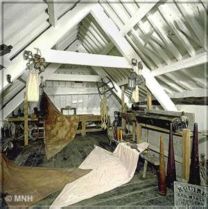 Sail makers loft - With grateful thanks to Manx National Heritage for their assistance with copyright text and images