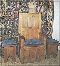 Reproduction furniture in the Lords' Dining Room - photo: Manannan's Web
